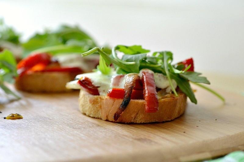Open Faced Grilled Veggie Sandwich